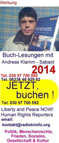 Buchlesungen mit Andreas Klamm - Sabaot